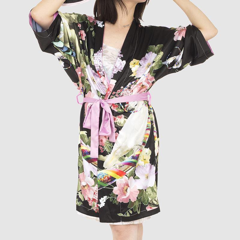 peignoir kimono kimono photo personnalis. Black Bedroom Furniture Sets. Home Design Ideas