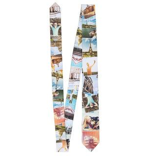 skinny photo montage tie