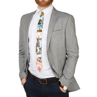 photo printed tie