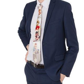 cravatta personalizzata con collage di foto