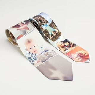photo montage ties skinny and wide