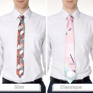 cravate slim personnalisable et cravate classique personnalisée