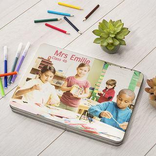 photo pencil tin box