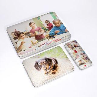 Photo personalised pencil case tin