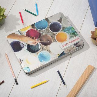 personalised pencil tin box