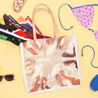 Selbst gestaltete Strandtasche