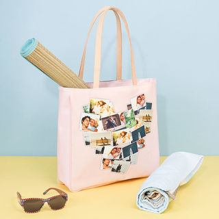 beach bag carrier leather printed