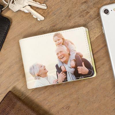porta tessere personalizzato in pelle con foto