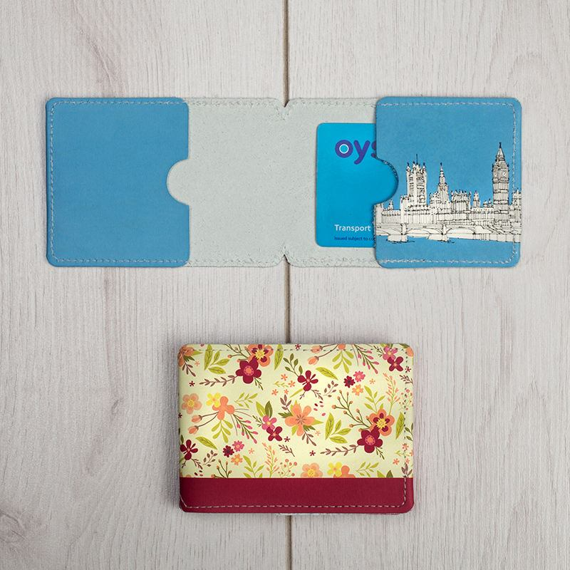 Leather Oyster Card Holder Personalised Travel Card Holder