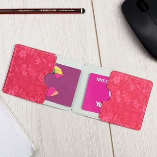 leather credit card holder personalised