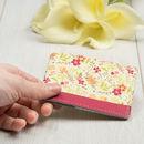 花柄デザインを印刷した オリジナルカードケース