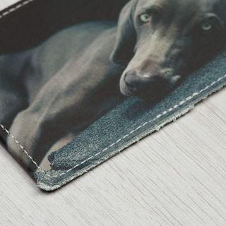 leather photo business card holder