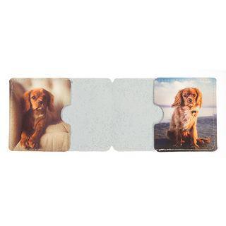 custom printed personalised leather card holder