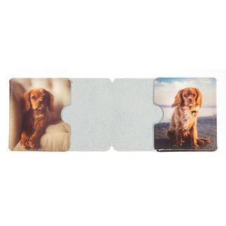 Dog leather printing travel card