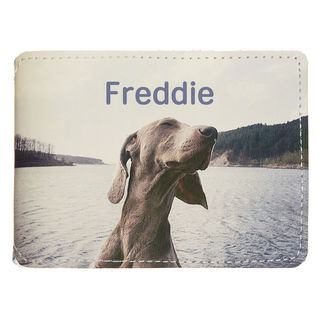 personalised card holder leather fabric