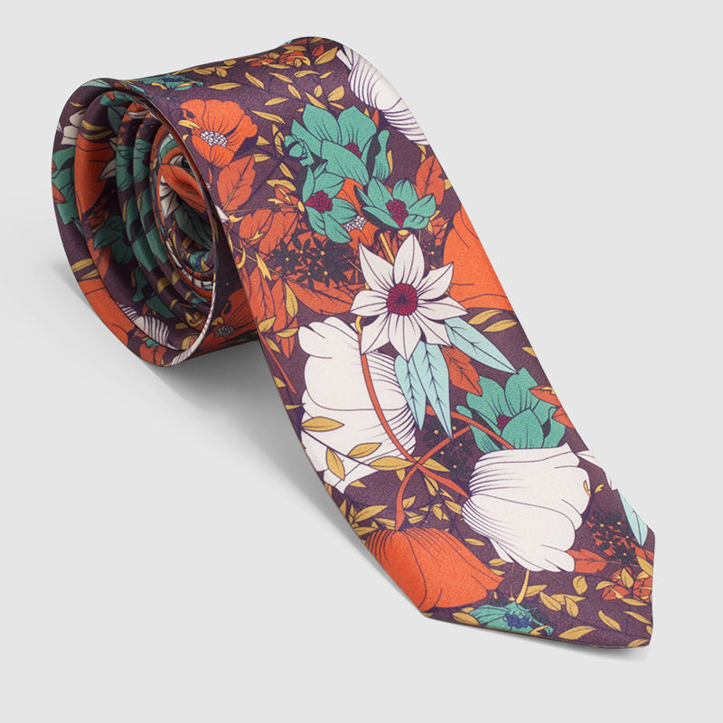 corbatas fintas estampadas