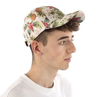 casquette imprimée à fleurs