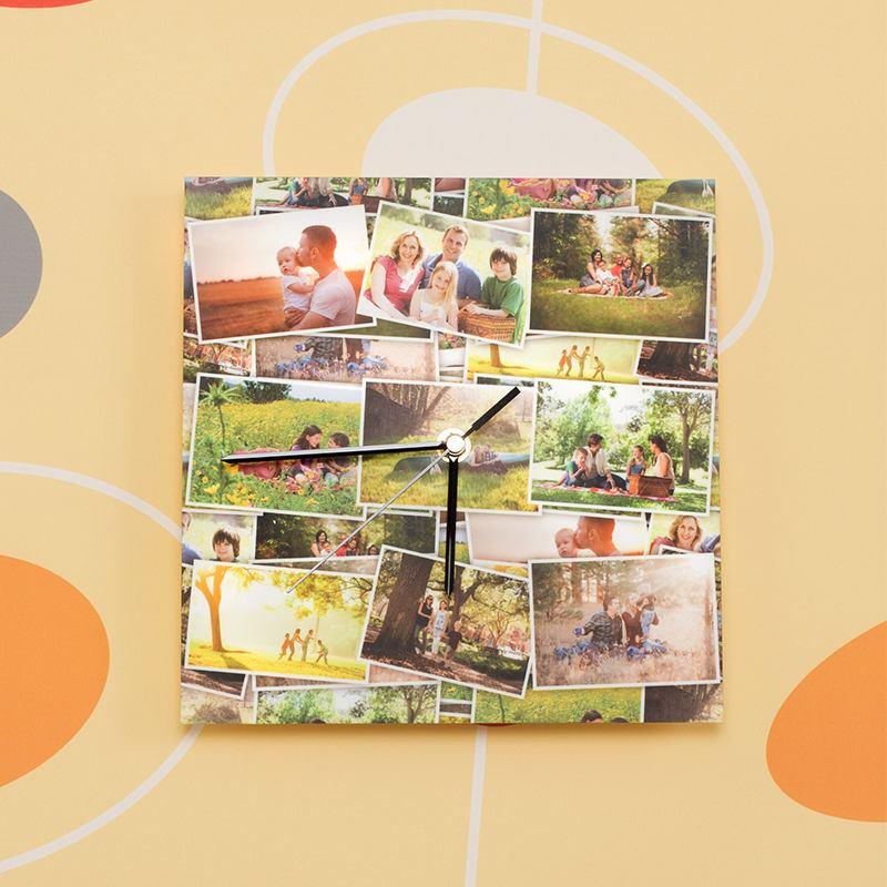 Popolare Orologio da Parete Personalizzato con Foto. Rettangolari o Quadrati DL84