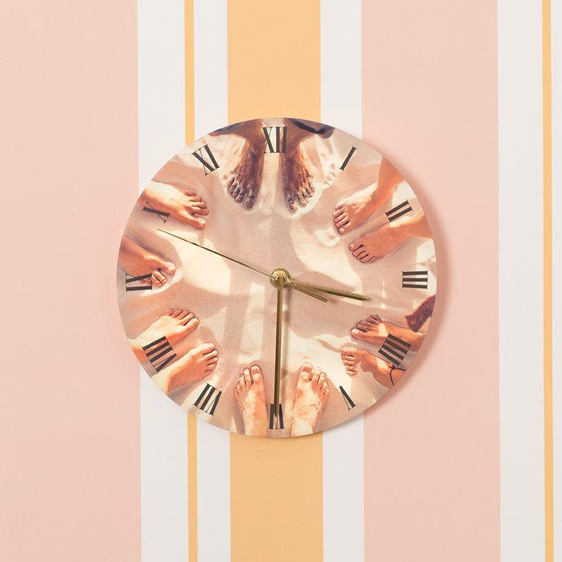 Relojes de Pared Redondos Personalizados | Foto Reloj de Pared Redondo