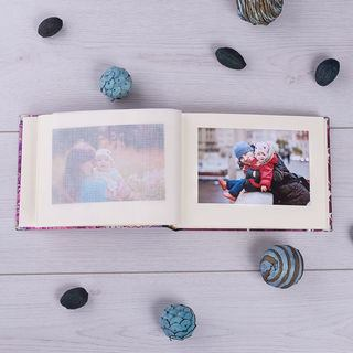 scrapbook with protective transparent sheets