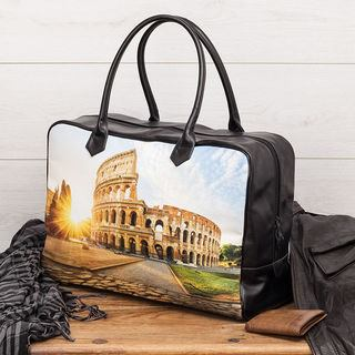 Printed travel overnight bag