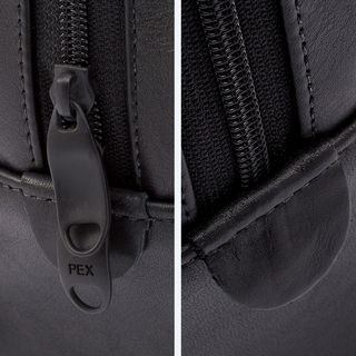 Leather Holdall Bag fixings Zip