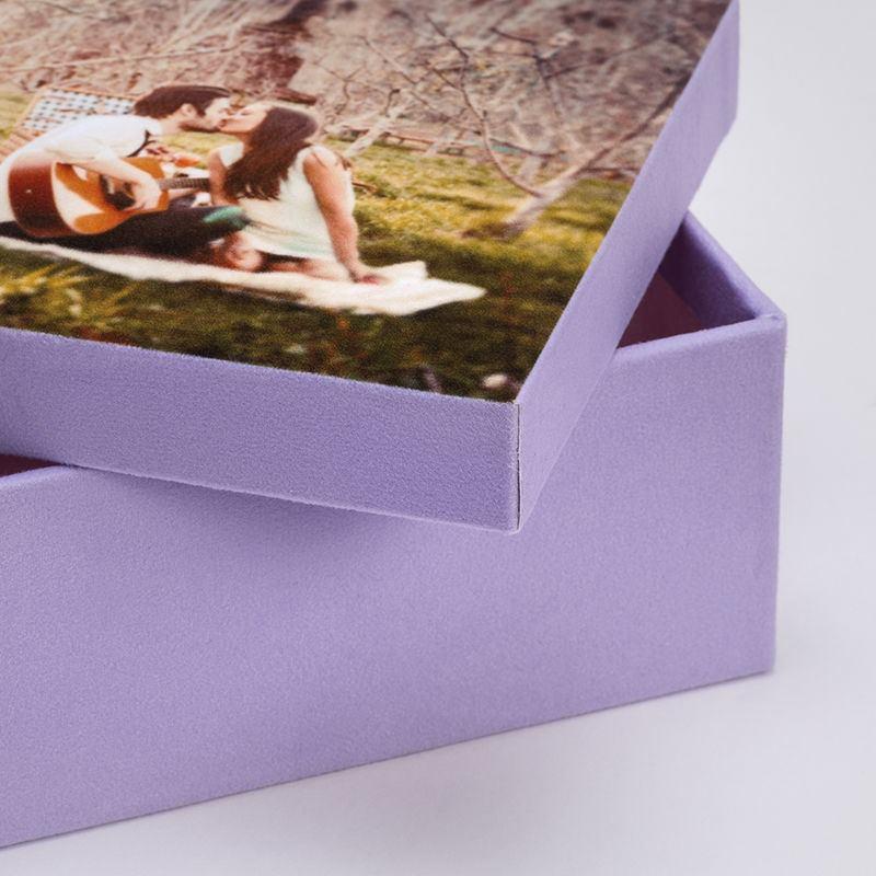 Photo box close up of fabric