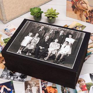 Aufbewahrungsbox mit Foto