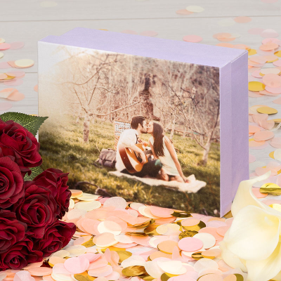 photo memory box for engagement