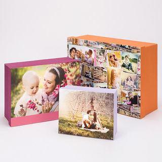 scatola con foto originale