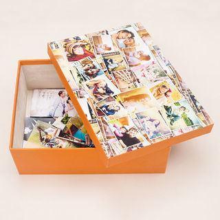 fotobox selbst gestalten fotoschachtel bedrucken lassen. Black Bedroom Furniture Sets. Home Design Ideas