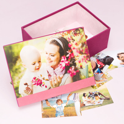 baby keepsake box printed with your photos