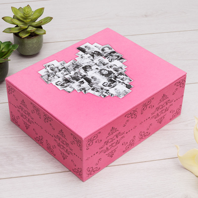 personalised trinket box with your photos