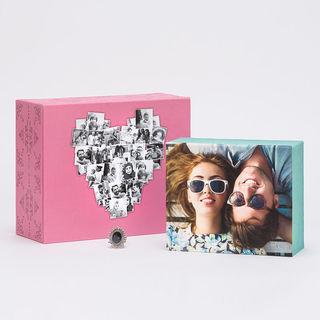 Boîte à bijoux personnalisée avec photos