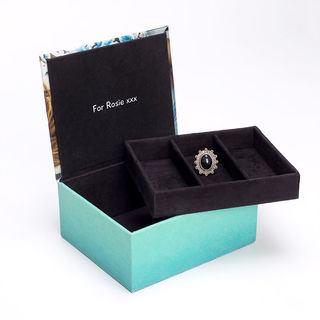 Boîte à bijoux personnalisable intérieur