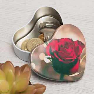Personalised Heart Shaped Gift Tins