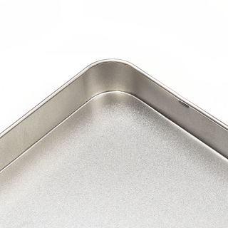 Boîte en métal plate personnalisée coin