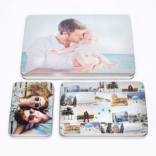 Boîte plate en métal photo tailles