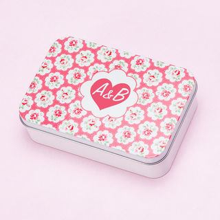 Heart printed Kath Kidson tin with your initials