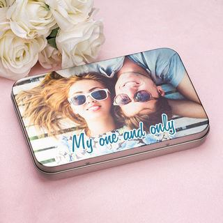 Love tin photo printed design couples