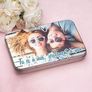 Boîte plate en métal photo