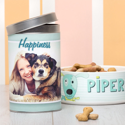 cylinder treat tins printed with name