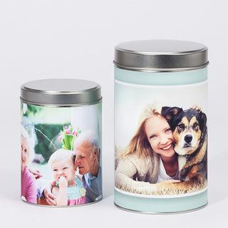 Family photo printed kitchen tins size