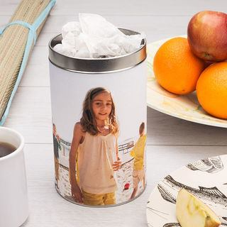 tea bag tin printed with your photos