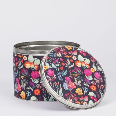 round metal tins