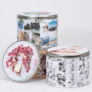 Foto scatole di metallo per regalo