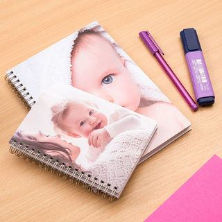 Personalised Spiral Notebooks sizes