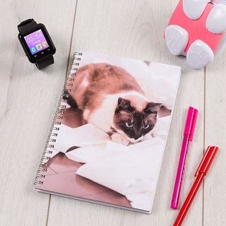 Cat personalised printed sketchbook