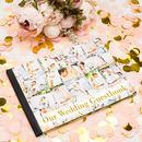 wedding photo guest book with flowers