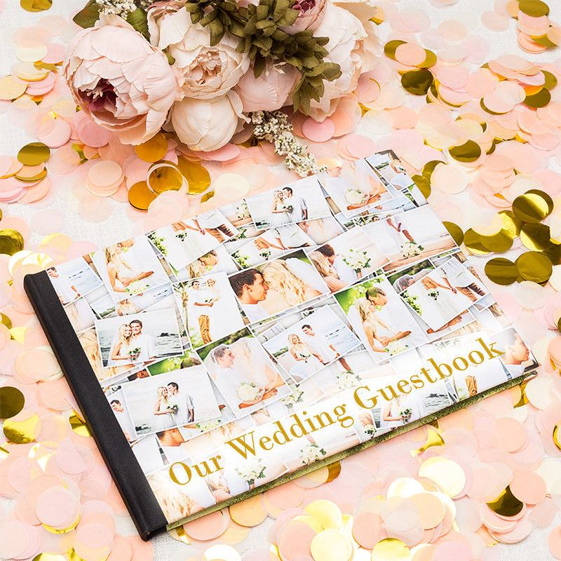 Wedding Photo Books Uk: Personalised Guest Books. Custom Visitor Guest Books For